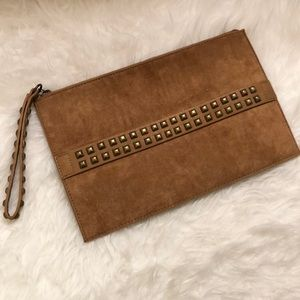 NWOT Large Brown Clutch